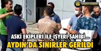 Aydın'da  bayram günü intikam gibi  'kaçak su' gerginliği
