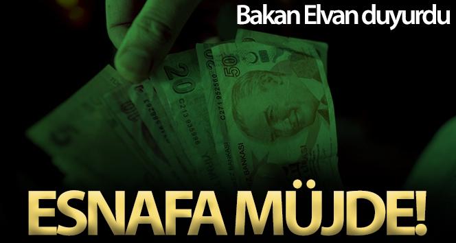 Hazine ve Maliye Bakanı Elvan'dan esnafa müjde