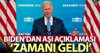 ABD Başkanı Joe Biden: 'Aşı olmanın zamanı geldi'