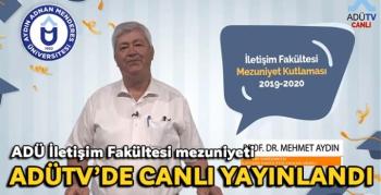 ADÜ İletişim Fakültesi mezuniyeti ADÜTV'de canlı yayınlandı