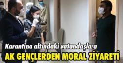 AK Parti Gençik Kolları'ndan karantinadaki vatandaşlara ziyaret