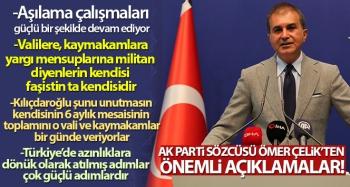 AK Parti Sözcüsü Ömer Çelik'ten MYK toplantısı sonrası önemli açıklamalar!