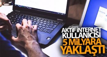 Aktif internet kullanıcısı 5 milyara yaklaştı