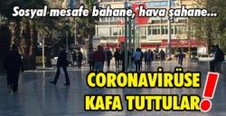 Aydınlı vatandaşlar coronavirüse kafa tutuyor