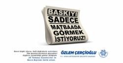 Başkan Çerçioğlu: ''Basın özgür olursa halk doğrularla 'aydın'lanır''