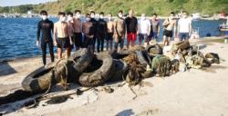 Çanakkale Boğazı'ndan 1 tonu aşkın plastik atık çıkarıldı