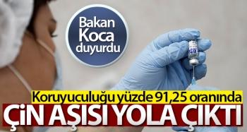 Covid-19 aşısı Çin'den Türkiye'ye doğru yola çıktı