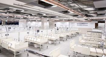 Covid-19 hastaları için yapılan ilk sahra hastanesi faaliyete geçti