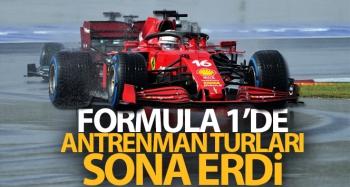 Formula 1'de antrenman turları sona erdi