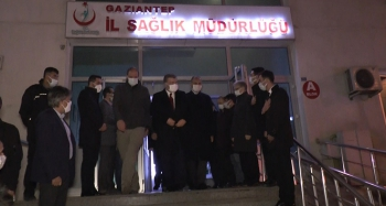 Gaziantep'te incelemelerde bulunan bakanlar kentten ayrıldı