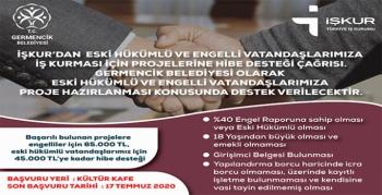 İŞKUR'dan engelli ve eski hükümlü vatandaşlara iş kurma fırsatı