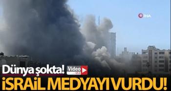 İsrail, Gazze'de medya ofislerinin bulunduğu 12 katlı binayı vurdu