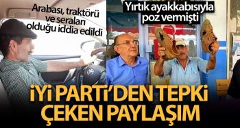 İYİ Parti'nin yırtık ayakkabılı çiftçi paylaşımı tartışmaya yol açtı