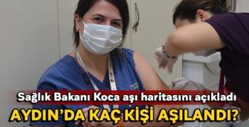 Korona virüs ile mücadele Aydın'da bu güne kadar 17 bin 917 kişi aşılandı.