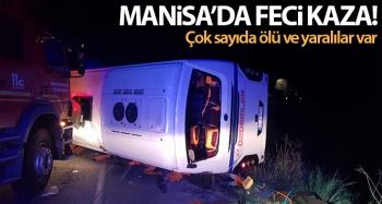 Manisa'da feci kaza! İşçi servisi otomobille çarpıştı