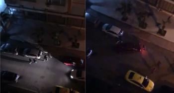 Öfkelerini park halindeki araçtan çıkardılar