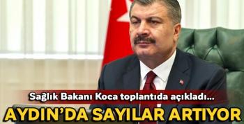 """Sağlık Bakanı Koca; """"Aydın'da vaka sayıları artıyor"""""""