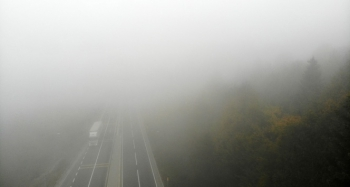 Sisle kaplanan Bolu Dağı havadan görüntülendi