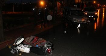 Ticari aracın çarptığı motosiklet sürücüsü hayatını kaybetti