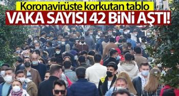 Türkiye'de son 24 saatte 42.308 koronavirüs vakası tespit edildi