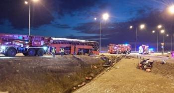 Yolcu otobüsü kaza yaptı: 6 ölü, 41 yaralı