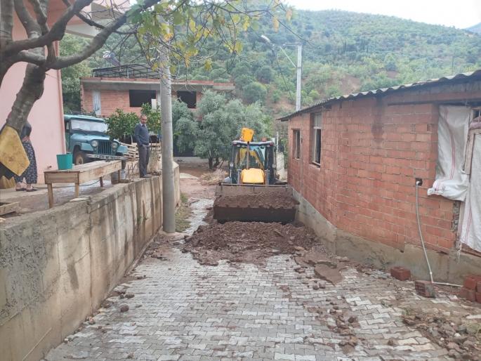 Nazilli'de yağıştan etkilenen bölgelerde çalışma başlatıldı