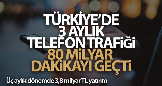 Türkiye'de 3 aylık telefon trafiği 80 milyar dakikayı geçti