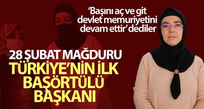 Türkiye'nin ilk başörtülü başkanı, iki dönemdir hizmet ediyor