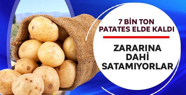 7 bin ton patates elde kaldı! Zararına dahi satamıyorlar