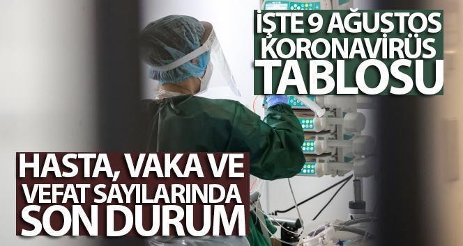 9 Ağustos koronavirüs tablosu açıklandı! İşte Kovid-19 hasta, vaka ve vefat sayılarında son durum