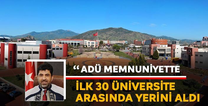 Adnan Menderes Üniversitesi, Rektör Aldemir döneminde zirveye doğru ilerliyor!