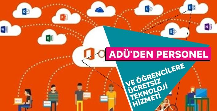 ADÜ'den personel ve öğrencilere ücretsiz teknoloji hizmeti