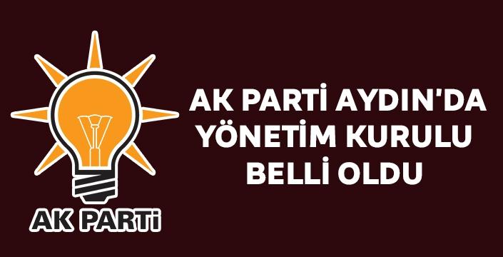 AK Parti Aydın'da Yönetim Kurulu belli oldu