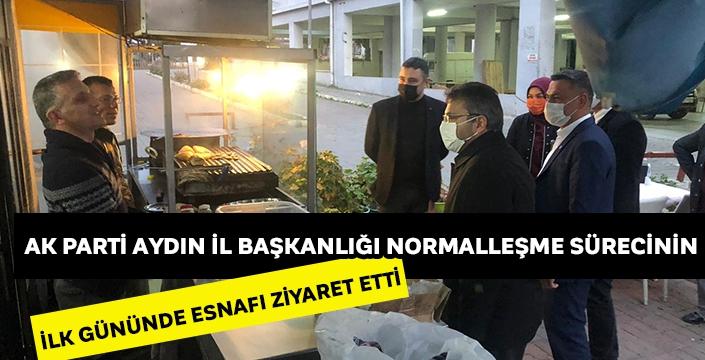 AK Parti Aydın İl Başkanlığı normalleşme sürecinin ilk gününde esnafı ziyaret etti