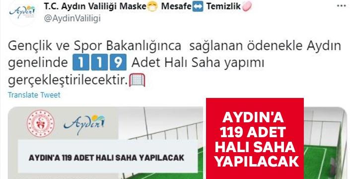 Aydın'a 119 adet halı saha yapılacak