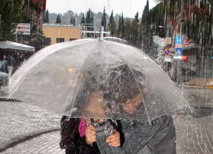 Aydın´a kuvvetli sağanak yağış uyarısı