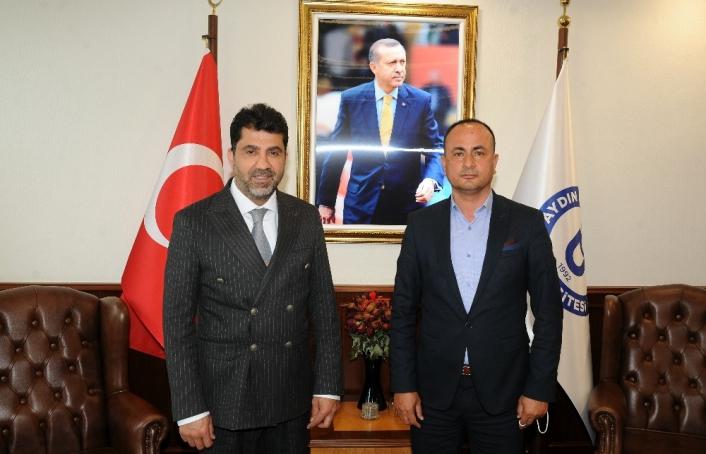 Aydın Basın Kartları Sorumlusu Erdal Şener ADÜ Rektörü Aldemir ile görüştü