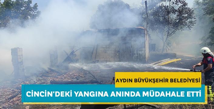 Aydın Büyükşehir Belediyesi Cincin'deki yangına anında müdahale etti