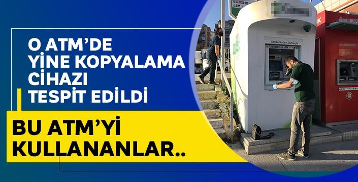 Aydın'da Aynı ATM'de yine kart kopyalama cihazı çıktı! Şüphelilere göz altı..