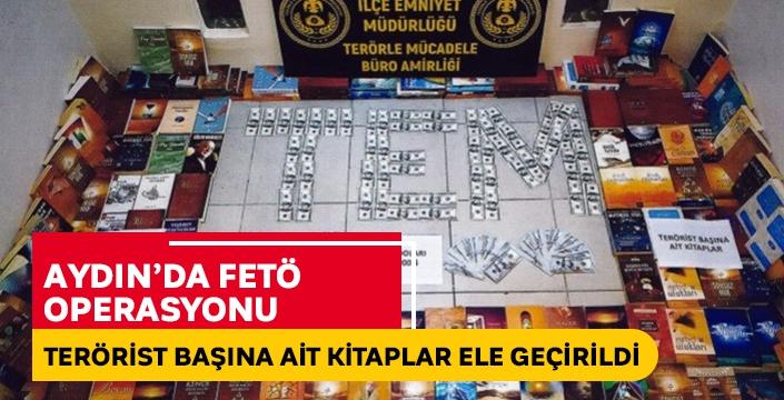 Aydın'da gerçekleştirilen operasyonda Terörist başına ait kitaplar ele geçirildi
