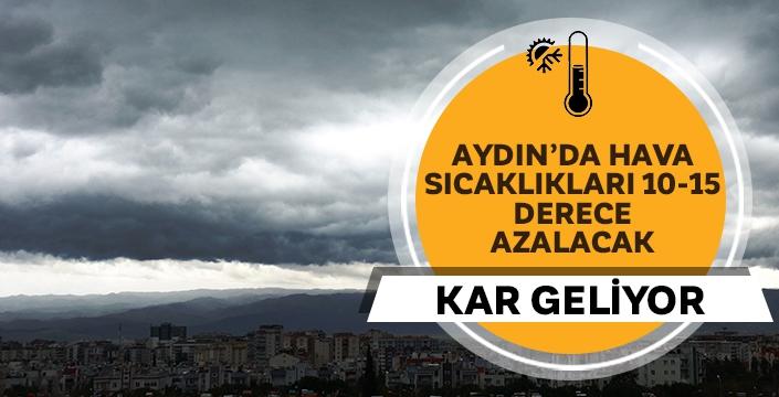 Aydın'da Hava sıcaklıkları azalacak, doğu kesimine kar gelecek