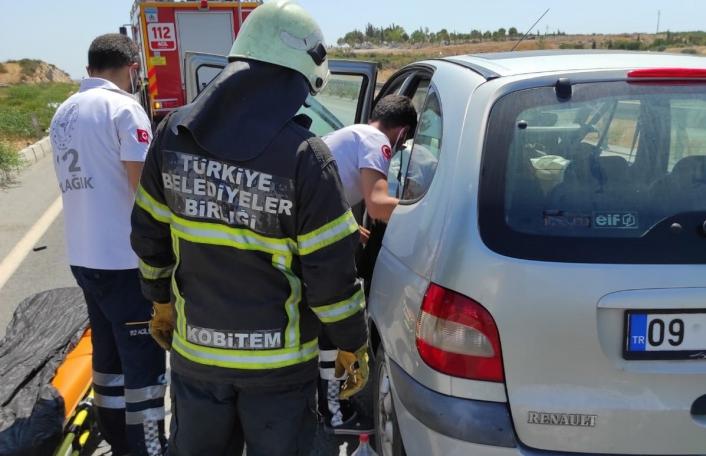 Aydın´da trafik kazası: 1 yaralı