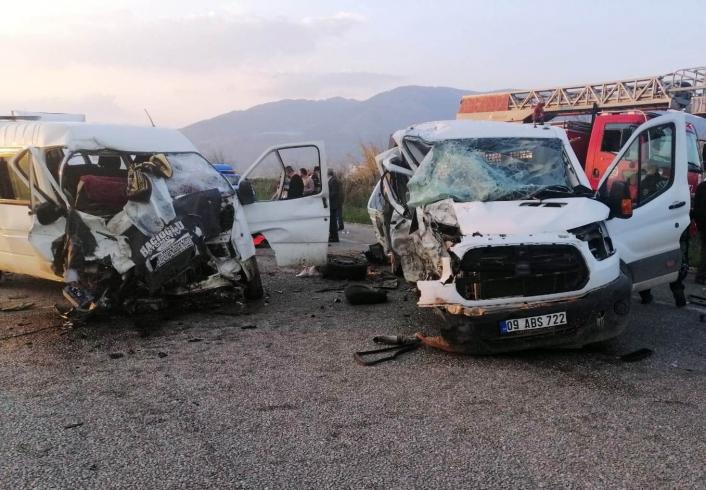 Aydın´da trafik kazası: 2´si ağır 4 yaralı