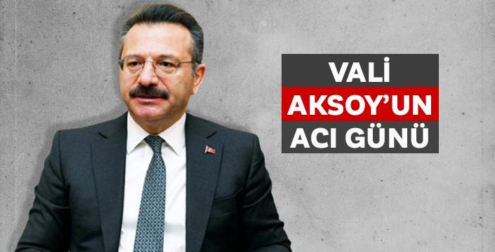 Aydın Valisi Hüseyin Aksoy'un acı günü