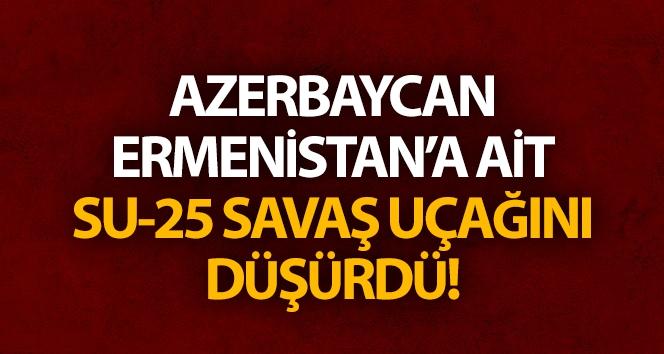 Azerbaycan, Ermenistan'a ait Su-25 savaş uçağını düşürdü.!