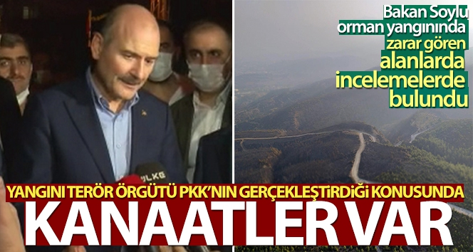 Bakan Soylu: 'Yangını terör örgütü PKK'nın gerçekleştirdiği konusunda kanaatler var'
