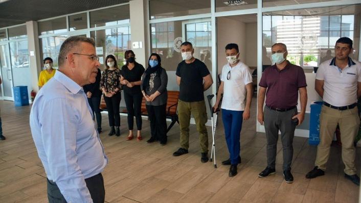 Başkan Güler belediye personeli ile bayramlaştı