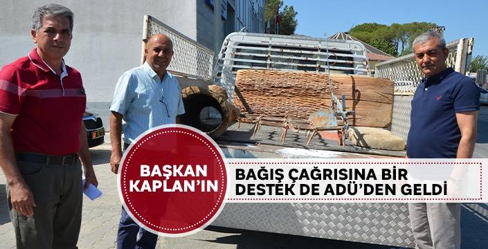 Başkan Kaplan'ın bağış çağrısına bir destek de ADÜ'den geldi
