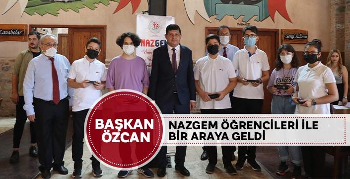Başkan Özcan NAZGEM öğrencileri ile bir araya geldi