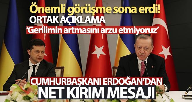 Cumhurbaşkanı Erdoğan: 'Kırım'ın ilhakını tanımama karamızı teyit ettik'
